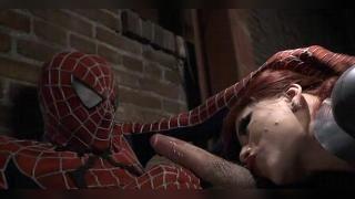 Человек паук трахает чёрную вдову